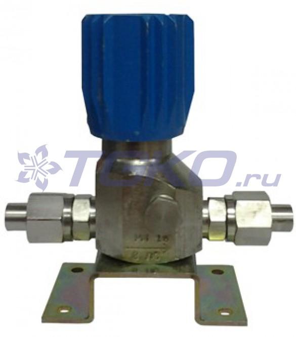 клапан запорный с манометром к-1104-16
